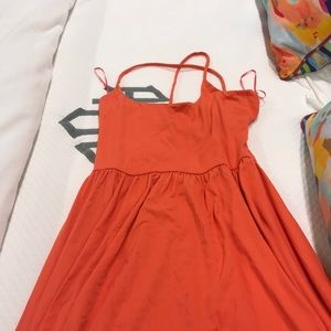 Strappy back orange Susana Monaco maxi dress NWOT